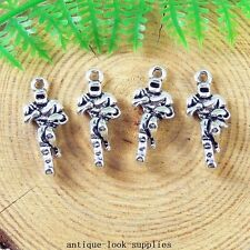40pcs Vintage Silver Alloy Rugby Player Charms Pendants Jewellery Findings 51222