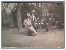 France, A Jouy-en-Josas avec les Stroms et Beauchaut  Vintage silver print Tir