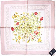 Jim Thompson Silk Handkerchief w/Floral Print & Signature Logo +Gift Wrap-Pink