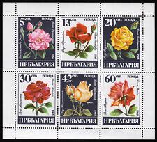 Bulgarien 3373-78 **, Kleinbogen, Blumen-Rosen