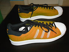 Adidas Shelltop Yellow/Orange Snake Like Sneakers Size 12 Brand New W/O Tags