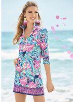 XL LILLY PULITZER Popover Dress SKIPPER UPF 50+ FLAMENCO BEACH VHTF