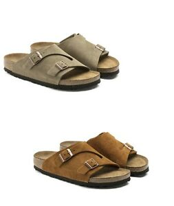 BIRKENSTOCK ZURICH TAUPE MINK WOMEN'S MEN'S SANDALS LEATHER SUEDE Zürich SFB