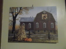 Autumn Leaf Quilt Block Barn Canvas Print Billy Jacobs 12 x 16""