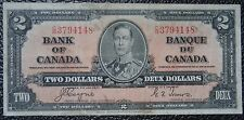 BANK OF CANADA - 1937 $2 NOTE - Prefix C/R - Signed Coyne & Towers - NCC