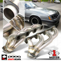 Stainless Steel Shorty Exhaust Header Manifold for 79-93 Ford Mustang 5.0 8Cyl