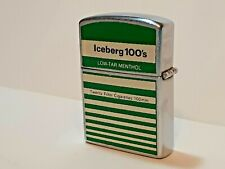 Vintage ICEBERG 100's Advertising LIGHTER / NOS / NEVER USED / VVHTF  [2636]