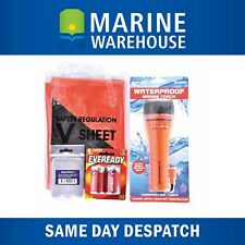 Marine Safety Pack - V Sheet Signal Mirror Waterproof Torch W/Batteries 3083MINI