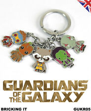 5 piece Guardians of the Galaxy Keyring | Groot Rocket Star Lord | Infinity War