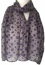 Purple Silk Scarf Spotty 100% Pure Silk Scarf Ladies Spotted Polka Dot Scarf New