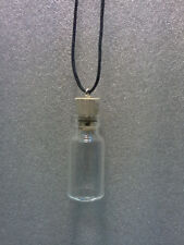 Glass potion poison Small-Bottle Necklace Pendant CORK vial gothic Steampunk!!