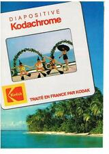 PUBLICITE ADVERTISING  1983   KODAK  diapositive  KODACHROME
