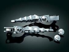 1996-2003 HARLEY DAVIDSON XL SPORTSTER Chrome Zombie Skull Levers: Kuryakyn 1047