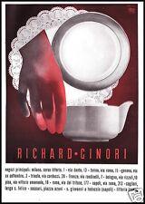 PUBBLICITA' 1935 RICHARD GINORI CERAMICA PORCELLANA NEGOZI ARTE ERBERTO CARBONI
