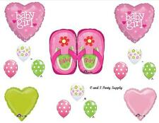 BABY GIRL SHOES SHOWER BALLOONS Decorations Supplies Flip Flops Sandals Dots