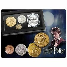 Harry Potter Gringotts Bank Coin Collection 24kt Gold Silver Copper Plated 3pc