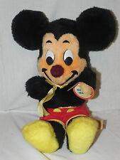 "Vintage Walt Disney Mickey Mouse Plush Toy By California Stuffed Toys 16"" Tall"