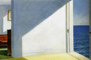 Edward Hopper Rooms by the Sea Box Canvas Wall Art Print Various Sizes