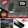 5D 1.51M x 50cm Gloss Black Carbon Fibre Fiber Vinyl Car Wrap Air Release Film