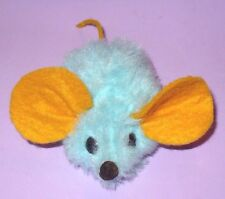 VINTAGE RARE 1976 RUSS BERRIE LT.BLUE MOUSE YELLOW EARS NUTSHELL NICE TAG CUTE