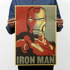 Marvel Iron Man Classic Movie Poster from Vintage Kraft Paper