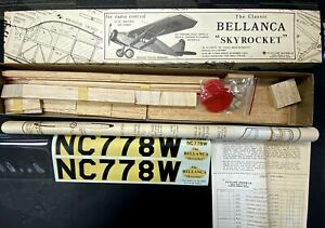 "Flyline Models's Classic BELLANCA ""Skyrocket"" R/C Model Airplane Kit NEW IN BOX!"