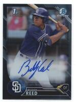 2016 Bowman Draft Chrome Draft Pick Autographs Refractors Black Buddy Reed