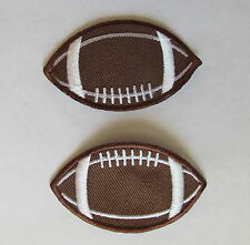 """Lot 2Pcs 2-3/8"""" Football Embroidery Iron On Applique Patch"""
