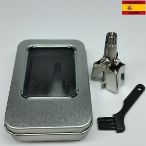 Maquinacortapelos nasal manual de acero inoxidable para cortar pelos de la nariz