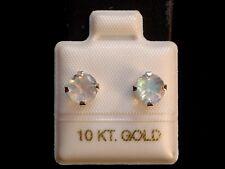 Mondstein Ohrstecker - 1,60 ct. - 10 Kt. Weiß Gold - 417- Ohrringe  Brillant Cut