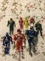 Bandai Might Morphin Power Rangers Lot Figures Red Link Yellow Green Ranger