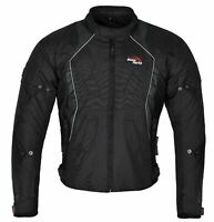 Mens Motorcycle Jacket Waterproof Cordura Textile winter Motorbike CE Armours UK