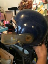 Vintage 1950s Hutch Football Helmet 660 w/Rare Lucite Facemask Blue/