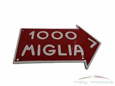 Alfa Romeo Emailleschild Mille Miglia 150 mm x 95 mm rot-weiß NEU zum Aufhängen