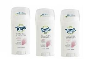 3 x Tom's of Maine Natural Strength Deodorant, Fresh  coconut, 2.1oz  3 pack