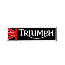 Triumph Union Jack Iron on/ Sew on Patch Biker Motorcycle