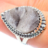 Desert Druzy 925 Sterling Silver Ring Size 8 Ana Co Jewelry R57649F