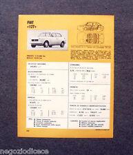 BE28 - Clipping-Ritaglio -1973- MINI SCHEDA TECNICA , FIAT 127