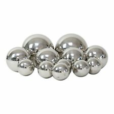 Set of 12 Stainless Steel Mirror Sphere Garden Ornaments