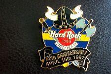 HRC Hard Rock Cafe Stockholm 12th Anniversary Black Viking Helmet Shield LE