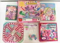 My Little Pony G3 DVD 6 Book Set & Trouble Board Game Bundle MLP 2000's Toys