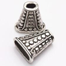 5Pcs Antique Silver Tibet Tibetan Cone Bead End Cap Wholesale Findings 18x8mm