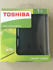"2.5"" 1 TB Toshiba Canvio Basics  USB3.0 Portable External Hard Disk Drive Black"