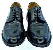 Johnston Murphy Burks Oxford Mens Sz 9M Black Leather Apron Toe Dress Shoe Italy