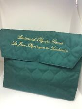 Atlanta 1996 Olympics Opening Ceremony Green Quilted Gift Bag w/contents