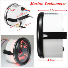 Fast Shipping 85mm 12/24V 0-4000RPMCar SUV Marine RPM Tachometer Gauge LCD Meter