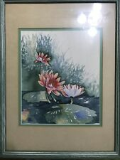 Original watercolor painting matted & framed