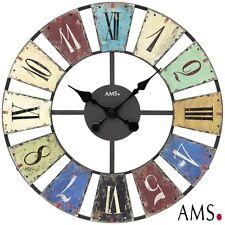 Ams 44 XXL Wall Clock Quartz Metal Housing Office Watch Ø 50 CM