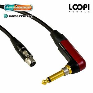 AKG WMS40 Wireless Lead - Short - Van Damme cable w/ Neutrik Silent Jack RA