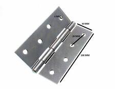 Cerniera Cancello bbzp acciaio zincato 100mm 10.2cm + VITI 6 PAIA